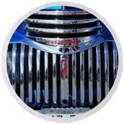 Blue Chevy Pick-up Grill Round Beach Towel