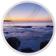 Blue Dawn Acadia National Park Round Beach Towel