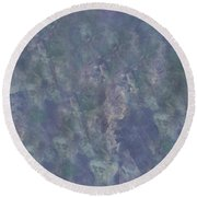 Blue Grey Abstract Round Beach Towel