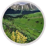 Blue Grouse Pass, Willmore Wilderness Round Beach Towel