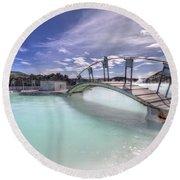 Blue Lagoon Round Beach Towel