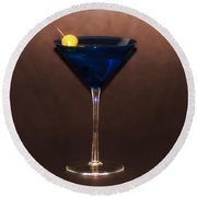 Blue Martini Round Beach Towel
