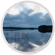 Blue Moment Round Beach Towel