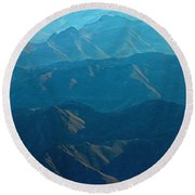 Blue Mountains Round Beach Towel