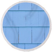 Blue Panels Round Beach Towel