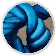 Blue Rope 2 Round Beach Towel