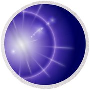 Blue Star Round Beach Towel