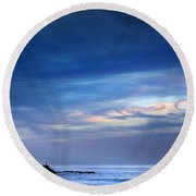 Blue Storm Round Beach Towel by Carlos Caetano