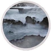 Blue Storm..protaras Round Beach Towel