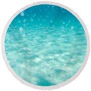 Blue Round Beach Towel by Stelios Kleanthous