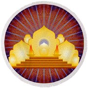 Blue Sun Temple 2012 Round Beach Towel