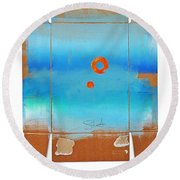 Blue Turner Walkabout Round Beach Towel