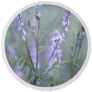 Blue Vervain Round Beach Towel