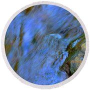 Blue Waters Round Beach Towel