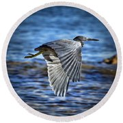 Blue Waters V2 Round Beach Towel