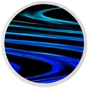 Blue Waves Round Beach Towel