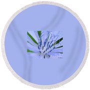 Blue Wild Flower Round Beach Towel