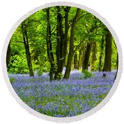 Bluebell Woods Round Beach Towel