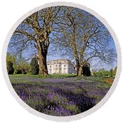 Bluebells In The Pleasure Grounds, Emo Round Beach Towel