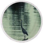 Bluegreen Lake Round Beach Towel