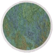 Bluegreen Stone Abstract Round Beach Towel