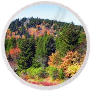 Blueridge Parkway View Near Mm 423 Round Beach Towel