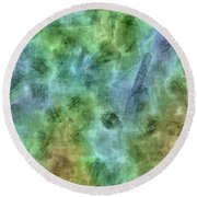 Bluetone Abstract Round Beach Towel