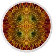 Blumen Art Round Beach Towel