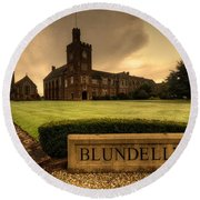 Blundell's School Round Beach Towel