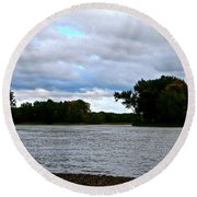 Blustery River  Round Beach Towel