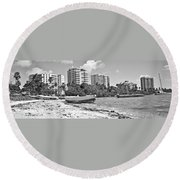 Boat For Sure Round Beach Towel