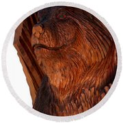 Bobcat Closeup Round Beach Towel