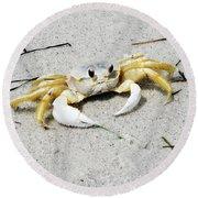 Boca Grande Crab Round Beach Towel
