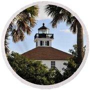 Boca House Of Lights Round Beach Towel