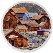 Bodie Ghost Town California Round Beach Towel