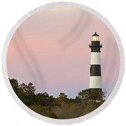 Bodie Island Light Round Beach Towel
