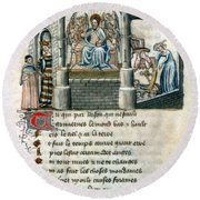 Boethius (c480-524) Round Beach Towel