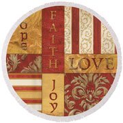 Bohemian Red Spice 1 Round Beach Towel