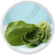Bok Choy Chinese Cabbage Round Beach Towel