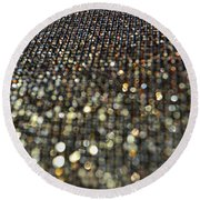 Bokeh Bling Round Beach Towel
