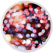 Bokeh Round Beach Towel
