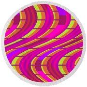 Bold Swirl  Round Beach Towel by Louisa Knight
