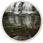 Bond Falls 2 Round Beach Towel
