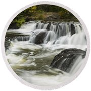 Bond Falls Upper 4 Round Beach Towel
