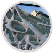 Bond Street Sculpture Round Beach Towel