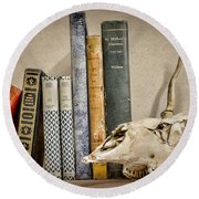 Bone Collector Library Round Beach Towel by Heather Applegate