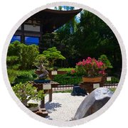 Bonsai Garden Round Beach Towel