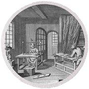Bookbinder, 1763 Round Beach Towel