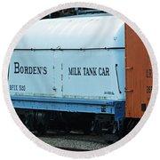 Bordens Milk Tank Car Round Beach Towel