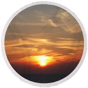 Bosphorus Sunset Marmara Sea Round Beach Towel
